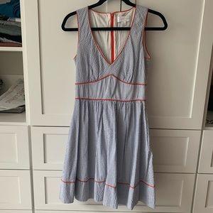 Seersucker a line dress